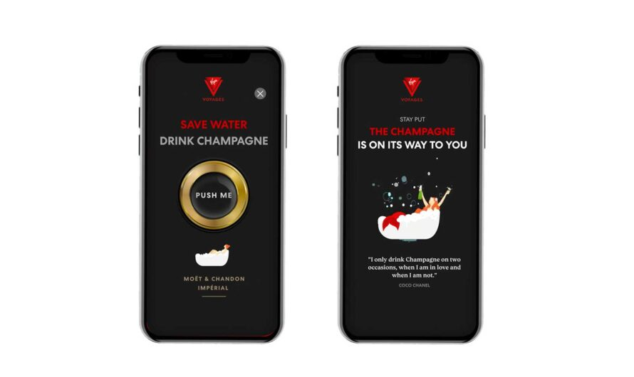 Sailors on Virgin Voyages Can Simply Shake Their Phone for Champagne on Demand (Video)